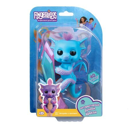 Интерактивный дракон Fingerlings Тара WowWee